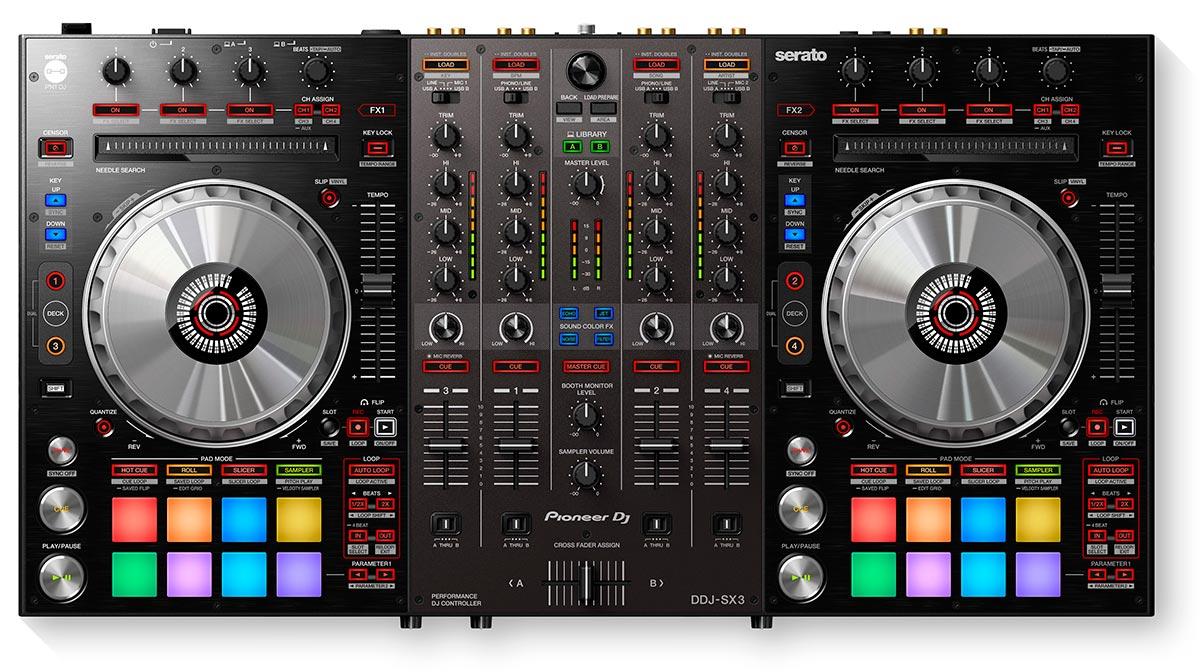 DDJ-SX3 Controlador de 4 canales para Serato DJ Pro